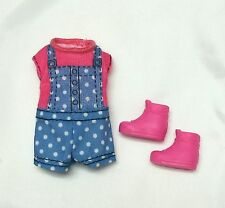 Barbie Sister Chelsea doll clothes outfit Polka Dot Jumper Shoes Boots Mattel