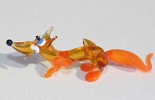 MURANO ART GLASS Lampwork FOX Handmade Animals Gift Collectible Figurine Figure