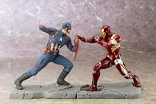KOTOBUKIYA CAPTAIN AMERICA CIVIL WAR MOVIE & IRON MAN MARK 46 ARTFX+ STATUE SET