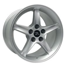 "17"" Silver Ford Mustang Cobra R ® Style Wheels Set 17x9 Inch 5x4.5 Rims 94-04"