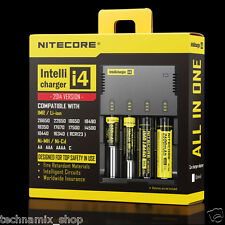 NITECORE ® i2 i4 Intellicharger 18650 26650 CR123A Universal Mod Battery Charger
