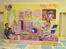 HAPPY FAMILY Barbie Doll NURSERY PLAYSET