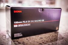 BRAND NEW Sigma EX 105mm f/2.8 HSM EX DG OS MACRO AF Lens for Canon