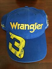 2010 Dale Earnhardt Jr & Sr Big Yellow #3 WRANGLER Jeans hat cap NEW NWT Blue
