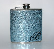 FROZEN ICE BLUE PERSONALIZED PARTY SPARKLY GLITTER BAR HIP FLASK FLASKS GIFT!