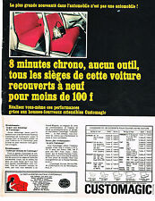 PUBLICITE   1967   CUSTOMAGIC  housse de voiture
