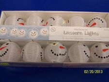 Snowman Lantern Lights Indoor Outdoor Winter Christmas Holiday Party Decorations