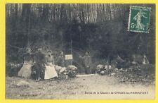 cpa Ecrite en 1908 CHAUX lès PASSAVANT (doubs) Entrée de la glacière Animés
