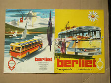 Beau Prospectus Car BERLIET Escapade Busse brochure prospekt bus  LKW catalogue