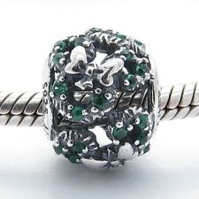 MOUSE WREATH CHARM Bead Sterling Silver .925 For European Bracelets 663