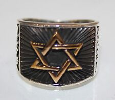 Sterling silver men ring, Hz. It is said that the star of Davud