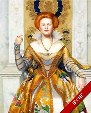 THE WHITE DEVIL ENGLISH ROYALTY DRAMA WOMAN IN DRESS PAINTING ART CANVAS PRINT
