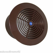 "Circle Ducting Ventilation Cover 5"" / 125mm Brown Ceiling Air Vent Grille T65BR"