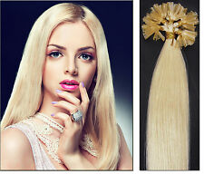 100 EXTENSIONS DE CHEVEUX POSE A CHAUD 100% NATUREL REMY HAIR BLOND PLATINE 46CM