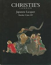 RARE - CHRISTIE'S Japanese Lacquer INRO Boxes Auction Catalog 1997