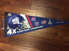 "New York Giants 4 X ""ON THE 50"" Super Bowl Champions Pennant NEW Wincraft"