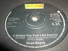 "ROSE ROYCE "" IT MAKES YOU FEEL LIKE DANCIN' "" 7"" SINGLE 1978 EXCELLENT"