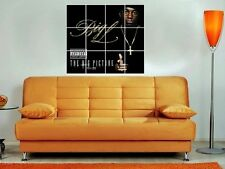 "BIG L - THE BIG PICTURE 36""X32"" INCH MOSAIC WALL POSTER HIP HOP RAPPER"