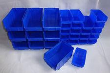 30 Stapelboxen im Set Gr.2 + 3 Stapelkästen Sichtlagerboxen blau Neu
