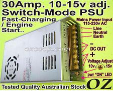 High-Current 30A 12v(adjustable10-15v) Power Supply /Fast-Charger Car-Start AU +