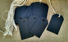 50 black chalkboard card stock price tags gift tags bag tags string not attached