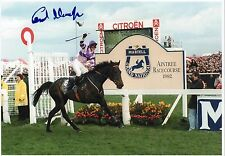 CARL LLEWELLYN - Signed 12x8 Photograph - HORSE RACING