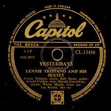 LENNIE TRISTANO SEXTETTE Yesterdays/ Intuition Schellackplatte Modern-Jazz X2738