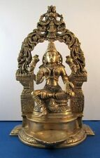 Lakshmi Laxshmi Hindu Goddess Prosperity Brass Full Metal Heavy Statue #BST218