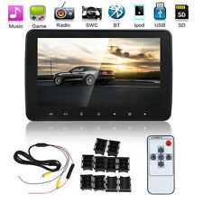 "Slim 10"" HD LCD Screen Car Pillow Headrest Monitor MP5 MP3 TV IR FM Game Player"