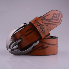 Mens Business Casual Waistband Leather Automatic Buckle Belt Waist Strap Belts