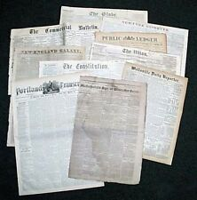 $3.50! Authentic 1800's NEWSPAPER - 150+ Years Old - Collectible 100% Original