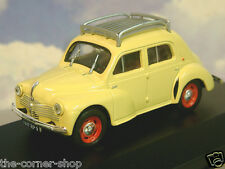 NICE ELIGOR 1/43 DIECAST 1947 RENAULT 4CV BERLINE R1060 IN YELLOW WITH ROOF RACK