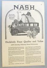 Original 1927 Nash Special Six 4 door Sedan Ad DECISIVELY FINE QUALITY & VALUE