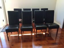 8 x leather dining chairs