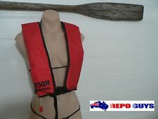 Adult Manual Inflatable RED Life Jacket 150N PFD1 Buoyancy Aid Sailing Boating