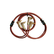 Audio Cable Dual RCA to Dual RCA Hifi RCA 90 Degree Angle Speaker Amp Wire 2M