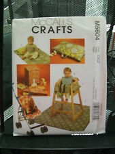 M5604 MCCALL'S SEWING PATTERN UNCUT BABY ITEMS RESTAURANT HIGH CHAIR COVER BIB +
