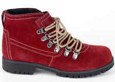 Hush Puppies Schnür Boots 36 VeloursLEDER Rot Stiefeletten Outdoor Stiefel NEU