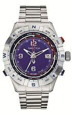 Orologio Nautica A25019G in acciaio blu moda uomo bussola maree termometro