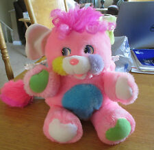 Vintage 1986 Mattel Popples Pink Baby Plush Toy with Bonnet - Excellent Cond.