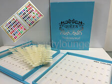 120 BLUE NAIL TIP COLOUR CHART DISPLAY BOOK WITH 120 TIPS FOR UV/LED GEL POLISH