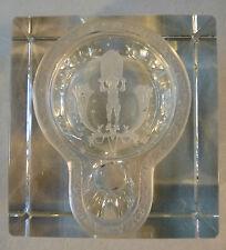 Tintenfass Glas Kristall Gravur Schliff Schnitt Ätzgravur um 1810