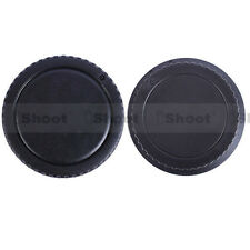 New Style Protector Body Cover + Rear Cap for Canon EOS DSLR Camera EF EF-S Lens
