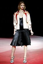 MIU MIU S/S 2011 RUNWAY Light Pink Nappa Leather Applique Jacket Coat IT40/US6