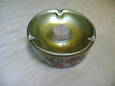 Antique Vintage Italian Italy Pipe & Cigar Ceramic Ashtray w/ Cork Knocker