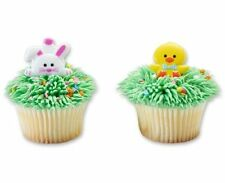 12 Chick And Duck Easter Cupcake Rings Party Favors Cake Topper