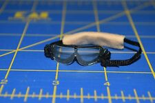 "1:6 scale Clear Black Goggles Eyewear w/ Tan Stap for 12"" Action Figures C-208"