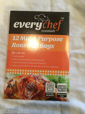 12 X ROASTING BAGS MIRCOWAVE OVEN COOKING TURKEY MEAT FISH POULTRY CHICKEN