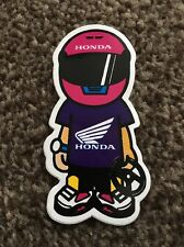 Honda Racing Man Pink Helmet Purple JDM Tuner Japan Car Sticker Decal Graphic