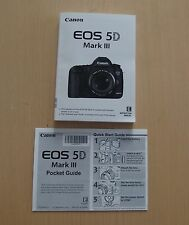 Canon EOS 5D Mark III  Mark3 Instruction Manual (English), Without CD